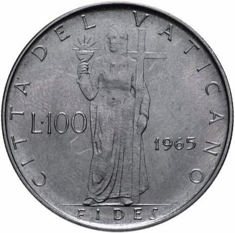 купить Ватикан 100 лир 1965