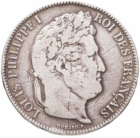купить Франция 5 франков (francs) 1834
