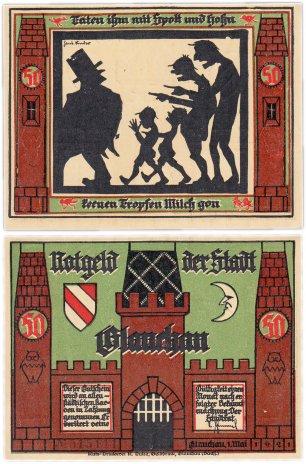 купить Германия (Саксония: Глаухау) 50 пфеннигов 1921 (436.1/B1/6)