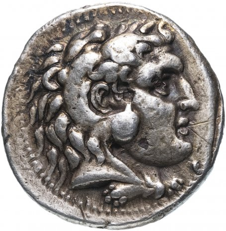купить Македонское царство, Александр III Великий, 336-323 годы до Р.Х., тетрадрахма. (пучок молний)  Посмертный выпуск.