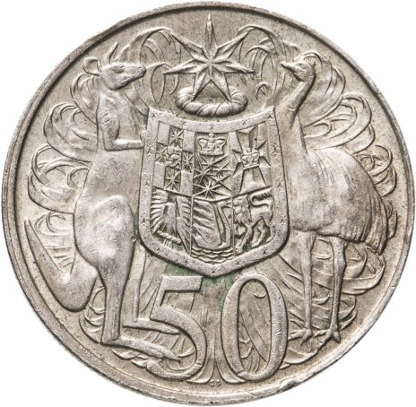 купить Австралия 50 центов (cents) 1966