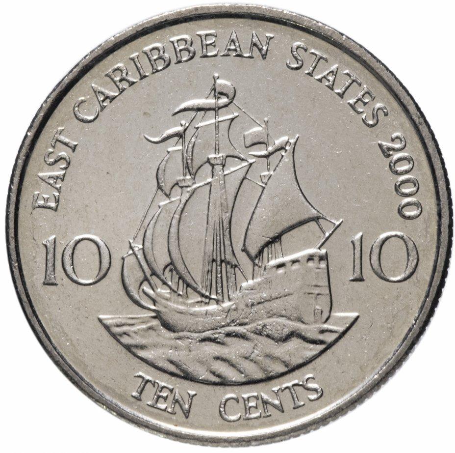 купить Восточные Карибы 10 центов (cents) 2000