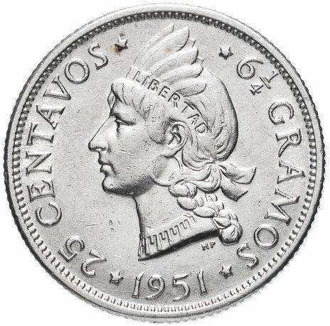 купить Доминиканская республика 25 сентаво 1951