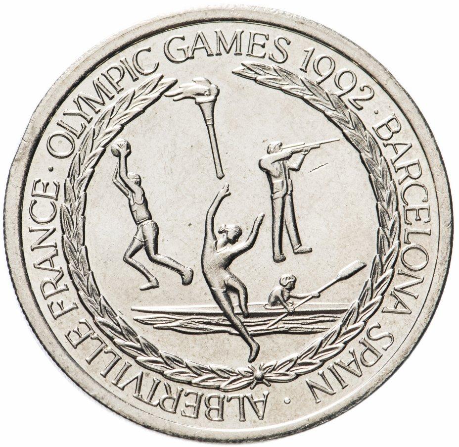 купить Тёркс и Кайкос 5 крон (crowns) 1992 Олимпийские игры Барселона 1992 и Альбервиль 1992