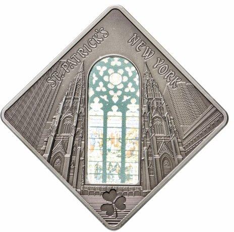 """купить Палау 10 долларов 2011 """"Священное искусство святые окна - Собор Святого Патрика"""" в футляре, с сертификатом"""