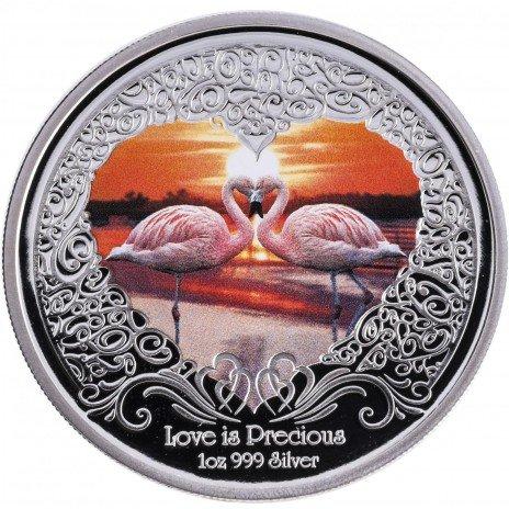 """купить Новая Зеландия 2 доллара 2011 """"Любовь драгоценна. Фламинго"""""""