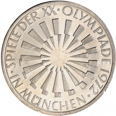 "купить ФРГ 10 марок 1972 F ""Олимпиада в Мюнхене - Эмблема In München"""