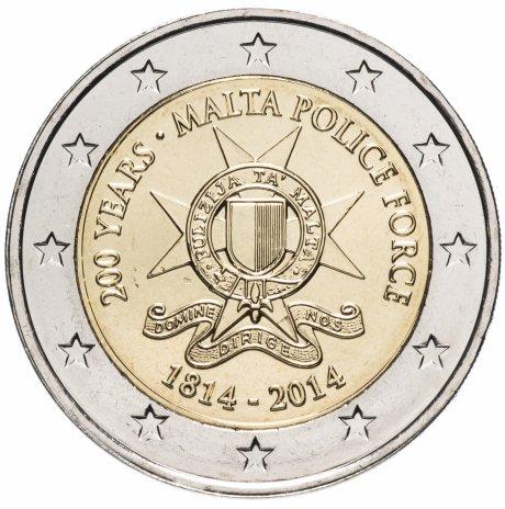 """купить Мальта 2 евро 2014 """"200 лет полиции Мальты"""""""