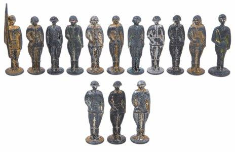 купить Набор оловянных солдат  (14 штук) в подборе, олово, СССР, 1970-1990 гг.