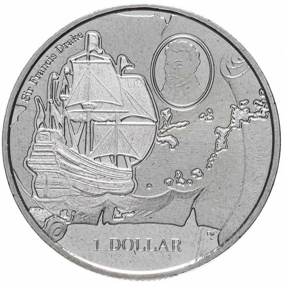 купить Британские Виргинские острова 1 доллар (dollar) 2015 475 лет со дня рождения Френсиса Дрейка