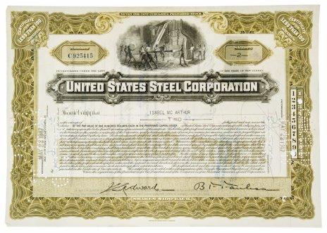 купить Акция США United States Steel Corporation 1947 г.