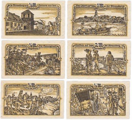 купить Германия (Бранденбург: Штраусберг) набор из 6 нотгельдов 1921
