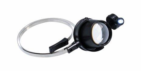 купить Лупа часовая 15x монокулярная с подсветкой и гибким держателем MG13B-A