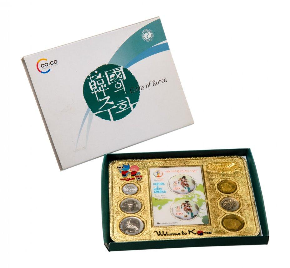 купить Южная Корея набор из 6 монет 1984-2009 в запаянном буклете с подставкой