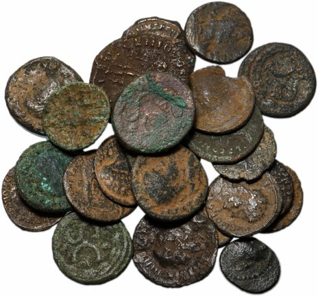 купить 25 монет Римской империи IV-V вв (состояние F)