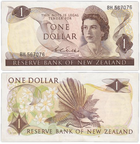 купить Новая Зеландия 1 доллар  1968-75 (Pick 163b)