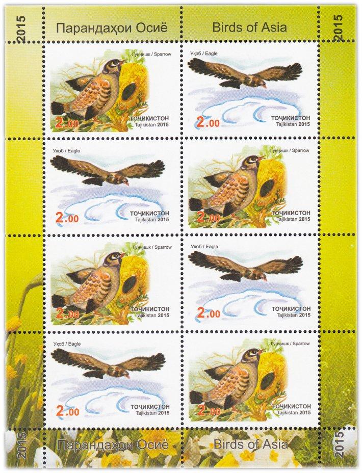 купить Таджикистан 2015 малый лист (Фауна, Птицы)