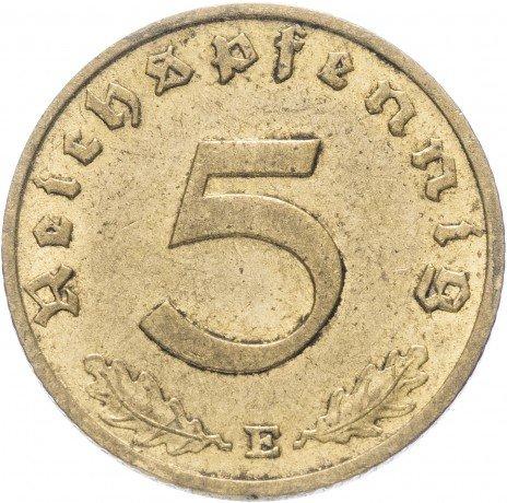 """купить Фашистская Германия (Третий Рейх) 5 рейх пфеннигов 1938 """"Е"""""""