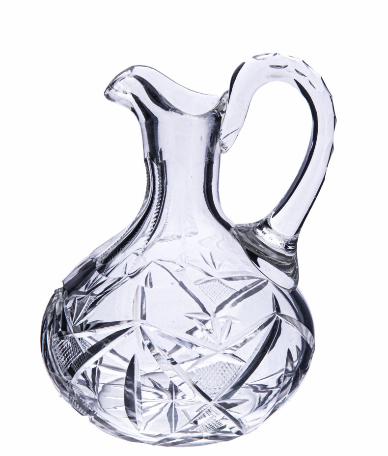 купить ПРОДАН НА WB Графинчик с рельефным орнаментом, хрусталь, алмазная грань, СССР, 1970-1990 гг.