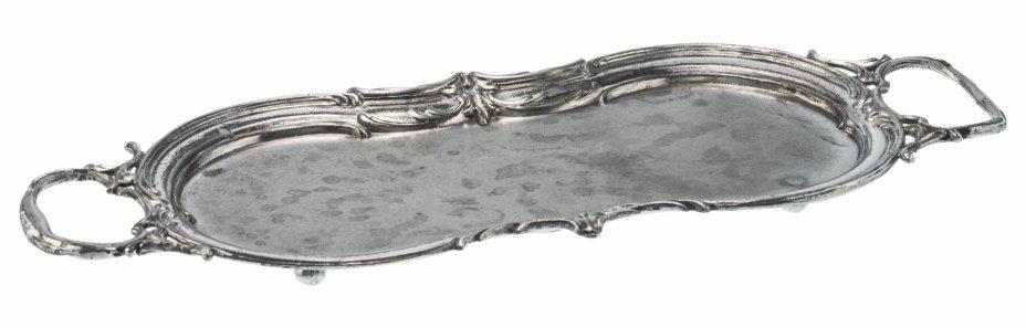 купить Поднос для красивой подачи десертов с фигурными ручками, металл, Западная Европа, 1930-1950 гг.