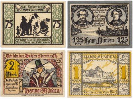 купить Германия (Ганновер: Ганноверш-Мюнден) набор из 4-х нотгельдов 1922