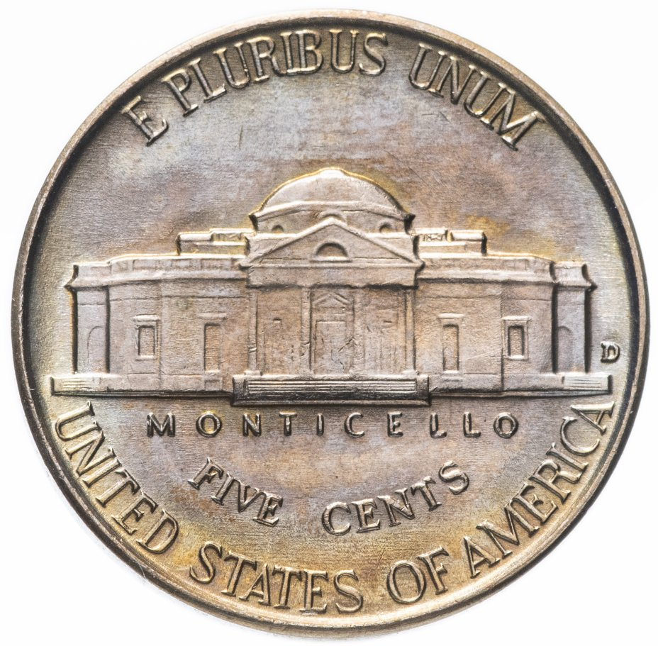 купить США 5 центов 1942 D Jefferson Nickel