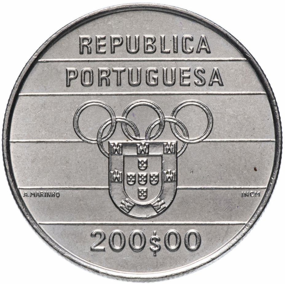 купить Португалия 200 эскудо (escudos) 1992 XXV летние Олимпийские Игры, Барселона 1992