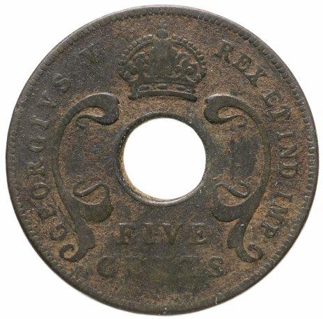купить Британская Восточная Африка 5 центов (cents) 1924