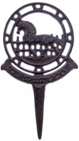 """купить Украшение для клумбы с изображением лошади и надписью """"Tervetuloa (добро пожаловать)"""",  металл, Финляндия, 1970-1990 гг."""