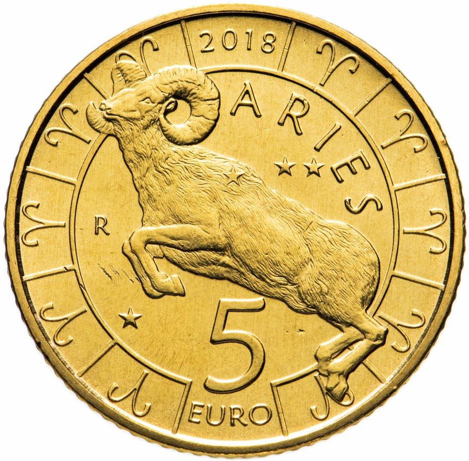 купить Сан-Марино 5 евро 2018 Знаки Зодиака - Овен