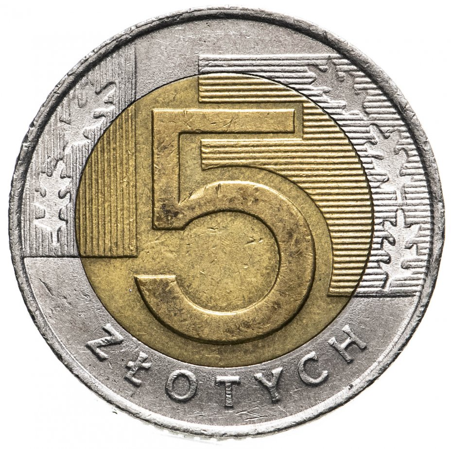 купить Польша 5 злотых (zlotych) 2008