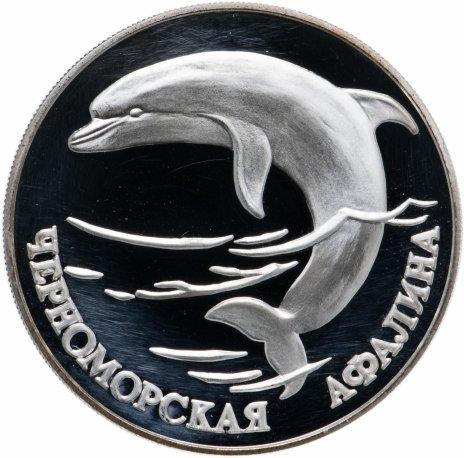 """купить 1 рубль 1995 СПМД """"Красная книга - Черноморская афалина"""""""