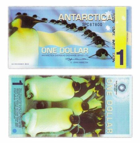 купить Антарктика 1 доллар 2011 (полимер)