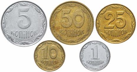 купить Украина набор из 5 монет 1992-2018, случайная дата