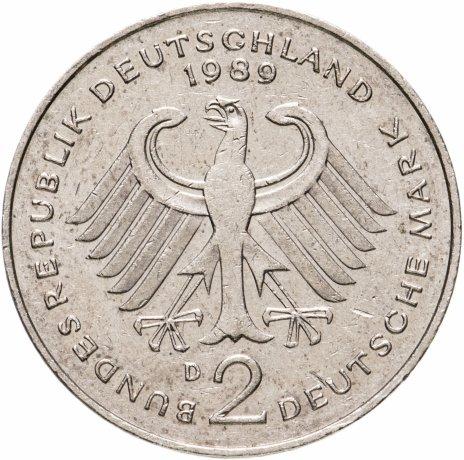"""купить Германия 2 марки 1979-1993 """"Курт Шумахер, 30 лет Федеративной Республике"""""""
