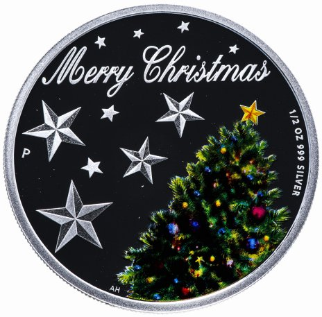 """купить Австралия 50 центов 2013 """"Счастливого рождества"""" в футляре, с сертификатом"""