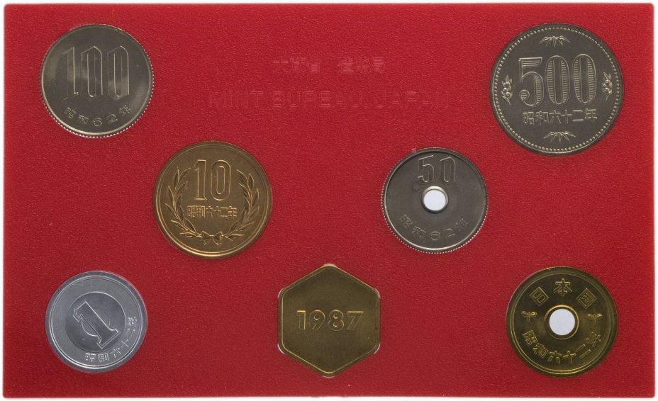 купить Япония Годовой набор монет 1987 (6 монет + жетон)