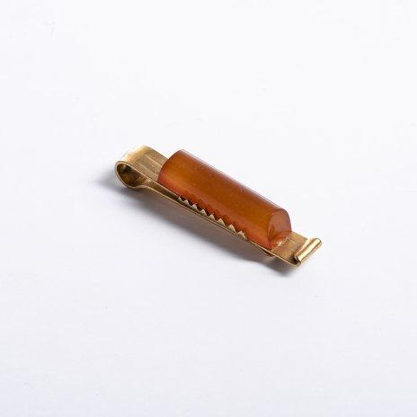 купить Заколка для галстука в родной коробке, Калининградский янтарный комбинат, СССР, 1966 г.