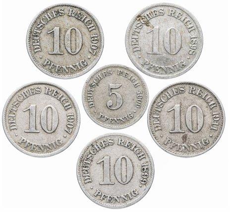 купить Германия набор из 6 монет 1898-1911