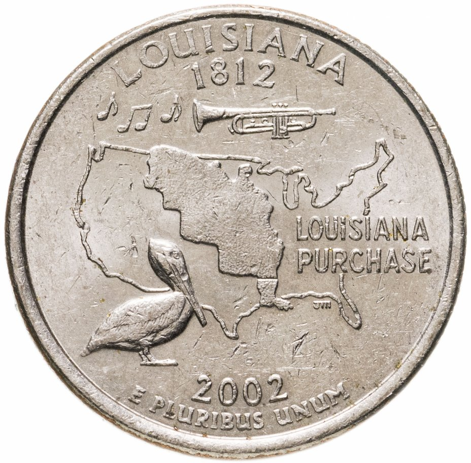 """купить США 1/4 доллара (квотер, 25 центов) 2002 """"Штат Луизиана"""""""