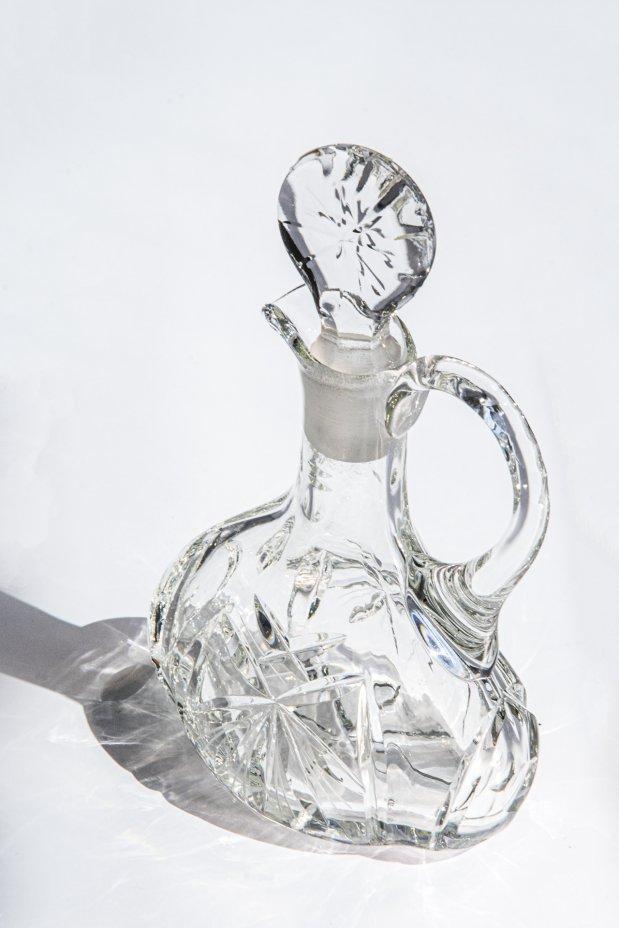 купить Графинчик с пробкой, хрусталь, алмазная грань, СССР, 1970-1990 гг.