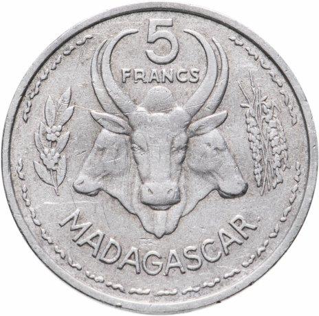 купить Мадагаскар 5 франков (francs) 1953