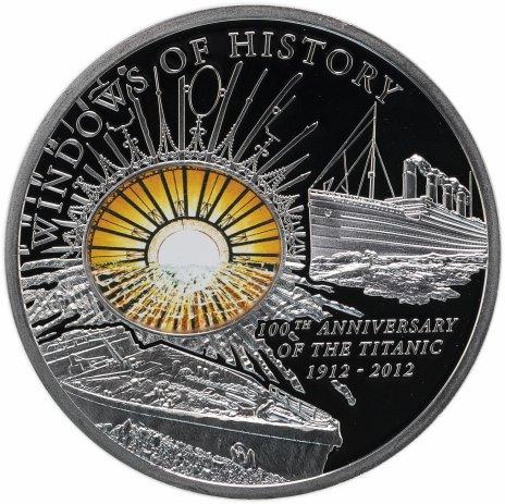 """купить Острова Кука 10 долларов 2012 Proof """"Окна истории - Титаник"""", в футляре, с сертификатом"""