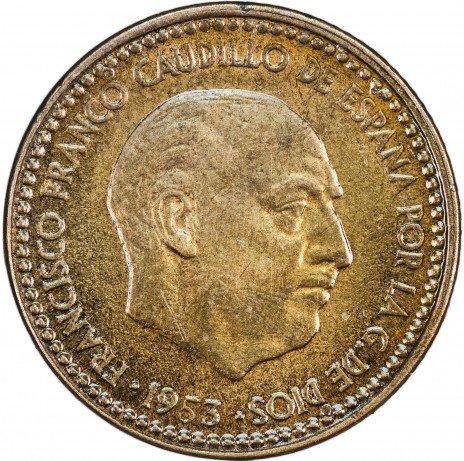 купить Испания 1 песета 1953