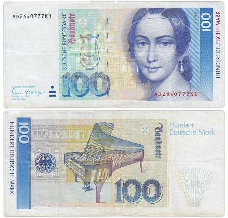 купить Германия ФРГ 100 марок 1989 (Pick 41b)