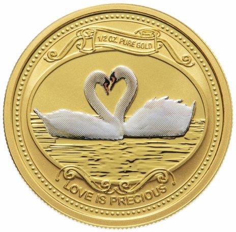 """купить Острова Кука 25 долларов (dollars) 2008 """"Любовь драгоценна"""", в подарочном футляре с сертификатом"""