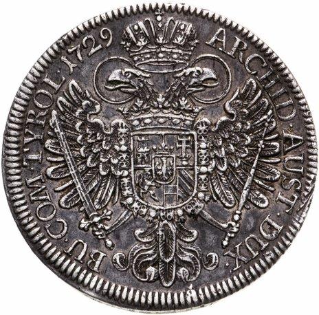 купить Священная Римская Империя 1 талер 1729 Император Карл VI , чеканка в Халл