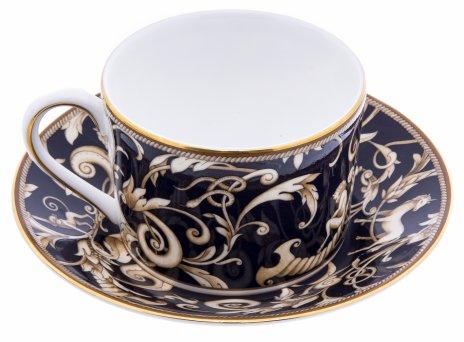 """купить Пара чайная """"Cornuopia"""", фарфор, деколь, мануфактура """"Wedgwood"""", Англия, 2000-2020 гг."""
