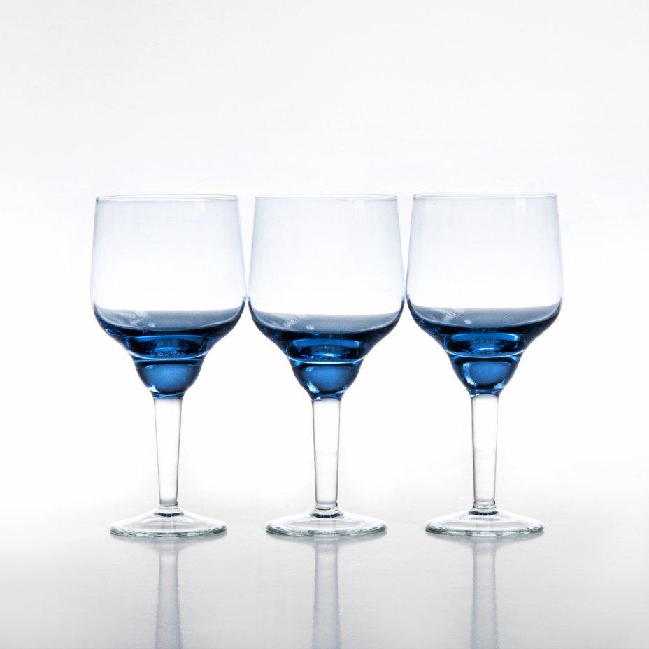 купить Набор из трёх рюмок, цветное стекло, Чехия, 1970-1990 гг.