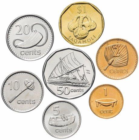 купить Фиджи набор монет 2001-2010 (7 штук)